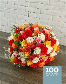 flowers: Summer Splash Rose Bouquet!