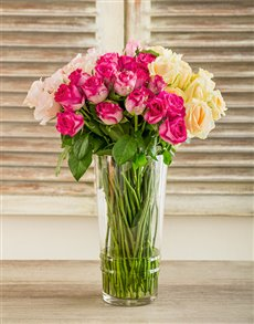 flowers: Misha Southern Belle Rose Arrangement!