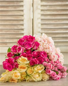 flowers: Misha Southern Belle Rose Bouquet!