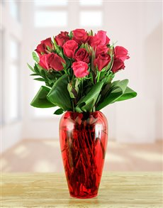flowers: Cherry Sorbet Arrangement!