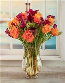 flowers: African Dusk Arum Lily Arrangement!