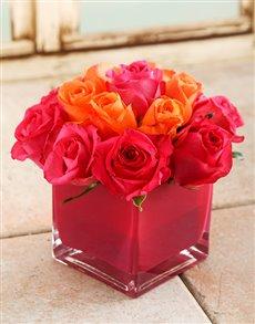 flowers: Pink Sky Rose Vase!