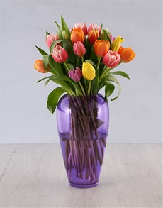 flowers: Kaleidoscopic Tulip Arrangement!