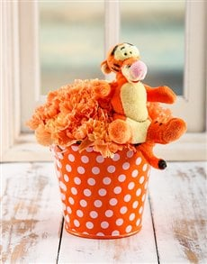 flowers: Tigger Flower Bucket!