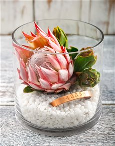 flowers: 46664 Protea Fire Vase!