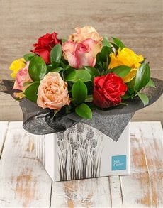 flowers: Giant Ethiopian Rose Boxed Arrangement!