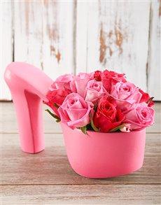 flowers: Rosy Sling Back Heels!