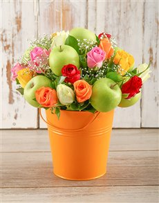 flowers: Orange Happiness Bucket!