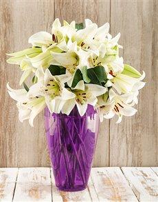 flowers: Modern Elegance Lily Arrangement!
