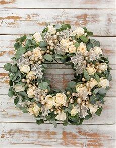 flowers: Festive Christmas Spirit Wreath!