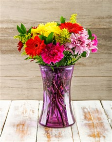 flowers: Vase of Mixed Purely Perfect Blossoms!
