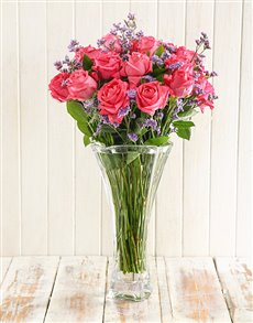 flowers: WOW Cerise Rose Arrangement!