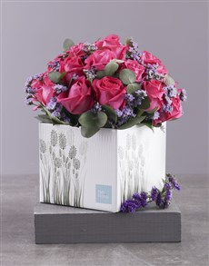flowers: Lovely Cerise Rose Gift Box!