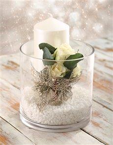flowers: Christmas Candle Arrangement!