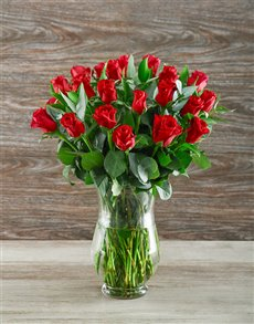 flowers: A Lot Like Love Red Rose Arrangement!