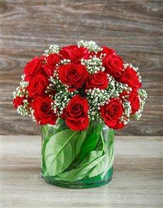 flowers: Red Rose Cylinder Vase!