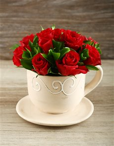 flowers: Red Rose Tea Time!