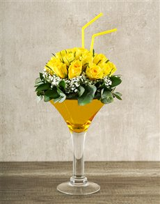 gifts: Elegant Yellow Rose Cocktail!