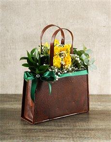 flowers: Yellow Rose Handbag!