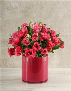 flowers: Pink on Pink Vase!