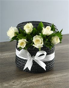 flowers: White Rose Hat Box!