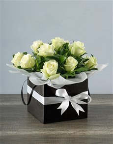 flowers: Black and White Boxed Delight!