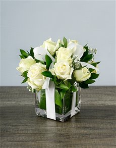 flowers: Small White Rose Surprise!