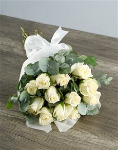 gifts: Bouquet of White Roses!