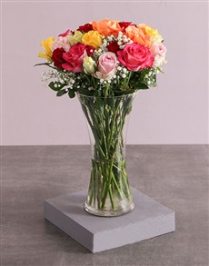 gifts: Mixed Roses and Million Stars in a Vase!