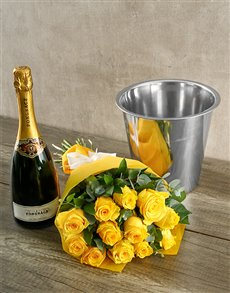 flowers: Prongracz Spoils and Yellow Roses!