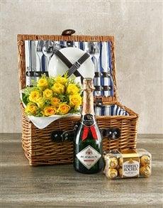 gifts: Yellow Rose Picnic Basket!