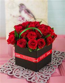 flowers: Romantic Red Rose Box Best Sellerr!