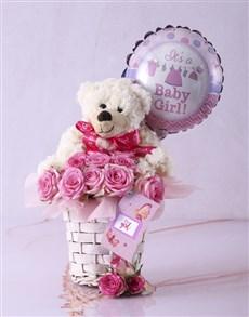 flowers: Baby Girl Fantasy Basket!