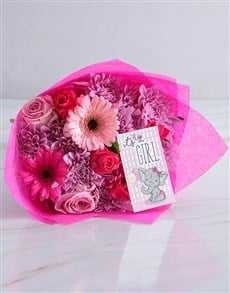 flowers: Pink Baby Girl Bouquet!