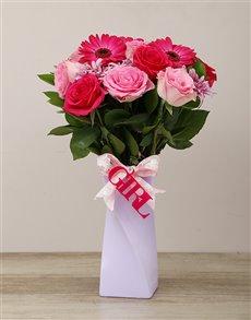 gifts: Elegant Its a Girl Arrangement!