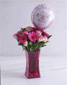 gifts: Rose Baby Girl Arrangement!