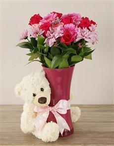 flowers: Pretty in Pink Baby Girl Arrangement!