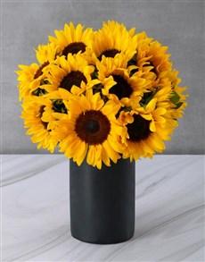 flowers: Sunflowers in a Black Chalk Vase!