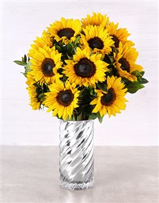 flowers: Sunflowers in a Twirl Vase!