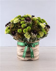 flowers: Mixed Flowers In Cream Pot!