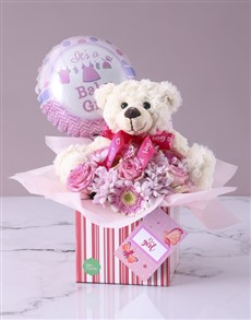 gifts: Baby Girl Floral Gift Box!