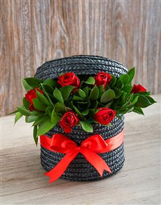 flowers: Red Rose Hat Box!
