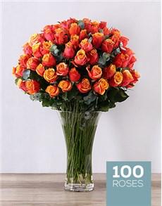 flowers: Cherry Brandy Supreme Flair Vase!
