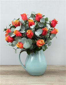 gifts: Cherry Brandy Roses in Ceramic Jug!