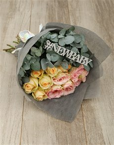flowers: New Baby Pastel Rose Bouquet!