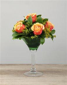 flowers: Cherry Brandy Roses in Martini Vase!