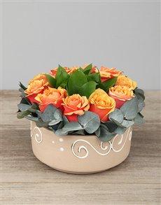 flowers: Ring of Cherry Brandy Roses!