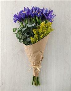 flowers: Luxurious Iris Bouquet!