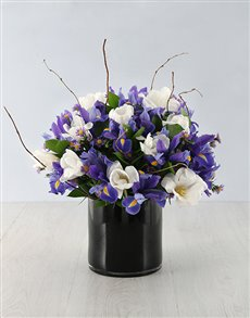 flowers: Mystical Iris and Tulip Arrangement!