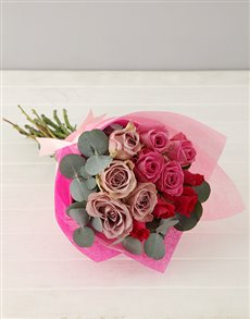 gifts: Lilac and Pink Rose Bouquet!